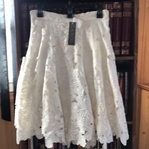 Cream skater designed skirt